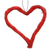 Heart open red 10cm 12pcs