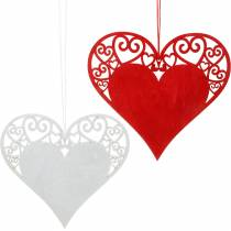 Heart to hang, wedding decoration, pendants heart, heart decoration, Valentine's Day 12pcs