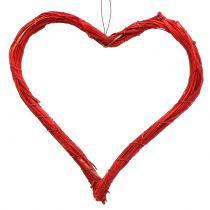 Heart open red 20cm 6pcs