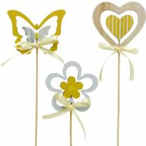 Decorative plug butterfly flower and heart, spring decoration, flower plug, Valentine's Day 9pcs