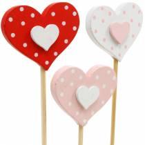 Decorative plug heart, wedding decoration, flower decoration for Valentine's Day, heart decoration 24pcs