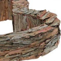 Deco heart wood pine bark 40 × 32cm