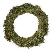 Hay wreaths 30cm 5pcs