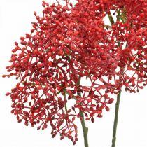 Elder red artificial flower for autumn bouquet 52cm 4pcs