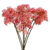 Elderflower branch pink 54.5cm 4pcs