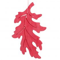 Wood leaves mix for hanging assorted colors 15cm 9pcs