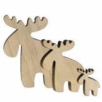 Wood moose for sprinkling natural 36p