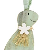 Wood Bunny Green, Brown 24cm 2pcs