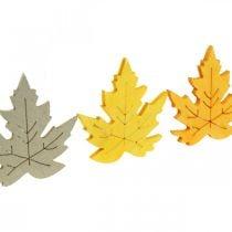 Sprinkle decoration autumn, maple leaves, autumn leaves golden, orange, yellow 4cm 72p