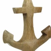 Decorative anchor wood pendant natural H14.6cm