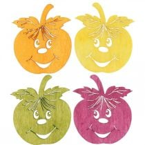 Scattered decoration laughing apple, autumn, table decoration, crab apple orange, yellow, green, pink H3.5cm W4cm 72pcs