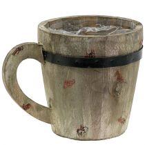 Wooden cup for planting Ø12cm H12cm