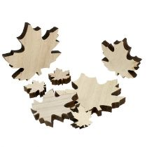 Wood leaves, maple leaves Mix 2,5cm - 7cm 36pcs