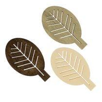 Wood leaves sorted 4cm nature 72pcs