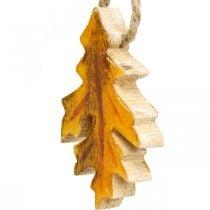 Decorative leaves wood to hang Colorful autumn decorations 6.5 × 4cm 12pcs