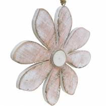 Wooden flowers to hang, summer, flowers in pastel colors, spring decoration Ø16cm 3pcs