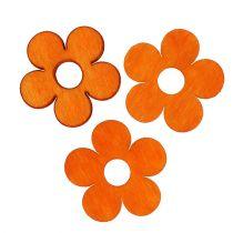 Wooden Flower for Sprinkling Orange 4cm 72pcs