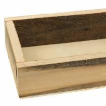 Natural wooden tray 37.5cm x 14.5cm H6.3cm