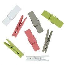 Wooden clips colorful 7,2cm 48pcs