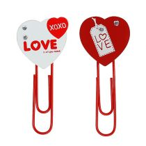 "Wooden clips heart ""Love"" decorative heart Valentine's gift 2pcs"
