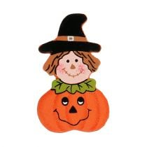 Wooden pumpkin for gluing 3,5cm Orange 18pcs