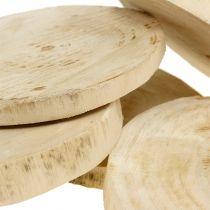 Wooden discs natural Ø11cm - 13cm 5pcs