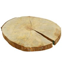 Wooden disc natural 25cm - 30cm
