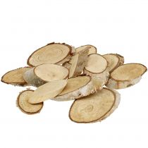 Wooden slices birch oval 4cm - 9cm 500g