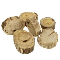 Wooden discs wood rings nature 500g