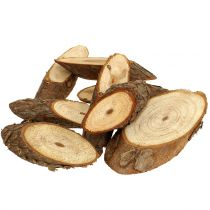 Wooden discs oval nature 500g