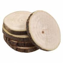 Wooden discs round natural Ø3.5–5cm 400g in a net