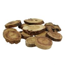 Wooden discs nature 6-8cm 500g