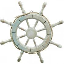 Wooden steering wheel, nautical decoration, maritime Ø34.5cm
