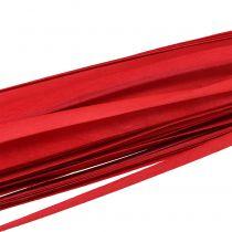Wooden strip braided ribbon red 95cm - 100cm 50pcs