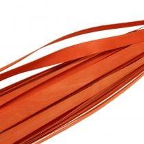 Wood strips for weaving Orange 95cm - 100cm 50pcs