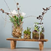 Wooden tray with legs Natural 58cm H10cm
