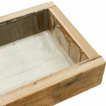 Wooden tray for planting, plant box, wooden decoration, flower box 30cm