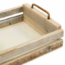 Wooden tray with handles square 30 × 30/24 × 24/18 × 18cm, set of 3