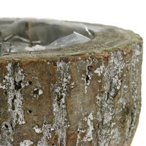 Wooden plant pot White washed Ø20cm H10cm
