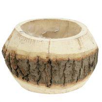 Wooden pot for planting nature Ø14cm