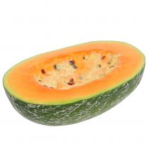 Honeydew melon half 22.5cm light orange
