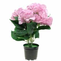 Hydrangea in a pot Artificial pink 35cm