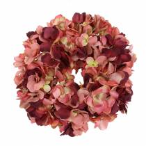 Hydrangea wreath Burgundy Ø30cm
