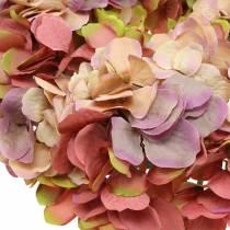 Hydrangea wreath old rose Ø30cm
