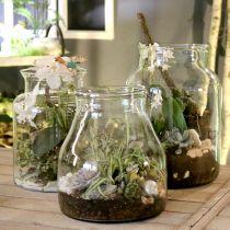 Decorative glass flower vase Ø21cm H23cm