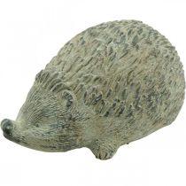 Decorative figure hedgehog 22cm garden decoration autumn antique green 20 × 12 × H10cm