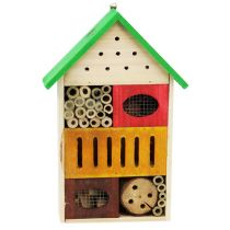 Insect hotel colorful 25,5cm x 9cm x 38,5cm