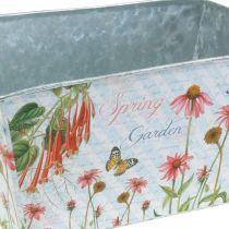 Jardiniere metal planter spring decoration 20 × 12 × 10cm