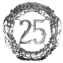 Anniversary number 25 in silver Ø40cm