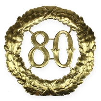 Anniversary number 80 in gold Ø40cm